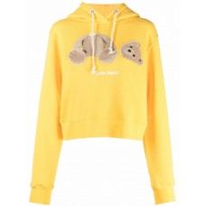Clothing PALM ANGELS Bear Fitted Hoodie Trends 2021 842740348 NWGYRPY