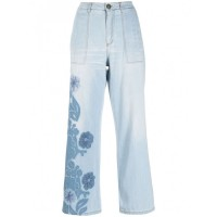 ERMANNO SCERVINO Embroidered Wide Leg Trousers Size 28 New Arrival 840425096 FUNCHYR