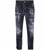 Girl's DSQUARED2 Cotton Cropped Denim Jeans Size 4 841868838 GRMOHUH