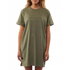 All About Eve Women Washed Tee Dress Khaki Popular SWRRXEV - 100% Cotton Jersey