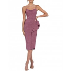 B by Bariano Womens Ainsley Metalic Dress Metalic Berry The Most Popular VGJPGZD - Shell: 55% Nylon 40% Polyester 5% Spandex. Lining: 100% Polyester`