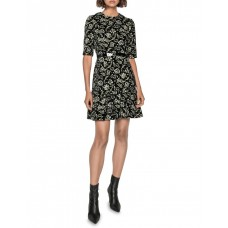 Cue Women's Belted Floral Chenille Dress Black in style JQGYAGG - 61% Viscose 27% Polyester 12% Nylon