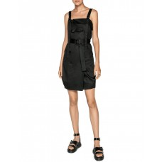 Cue Womens Cotton Belted Button Front Dress Black PSCHNUH - 100% Cotton