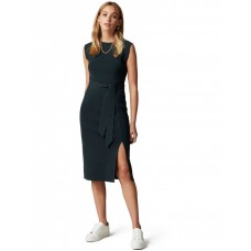 Forever New Women's Ariana Front Split Knit Dress Forest LEEXEHL - 55% Viscose 45% Polyamide